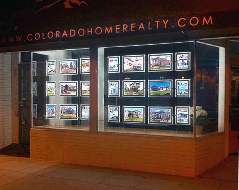Real Estate Window Displays Listing Displays Illuminated
